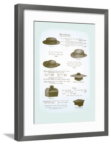 Headwear--Framed Art Print