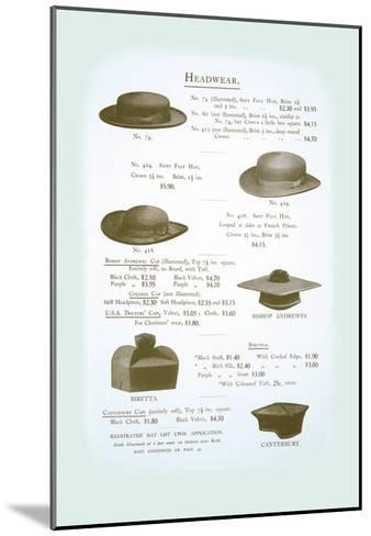 Headwear--Mounted Art Print