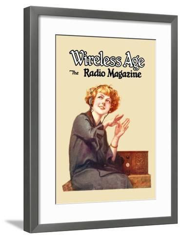 Wireless Age: The Radio Magazine-D^ Gross-Framed Art Print