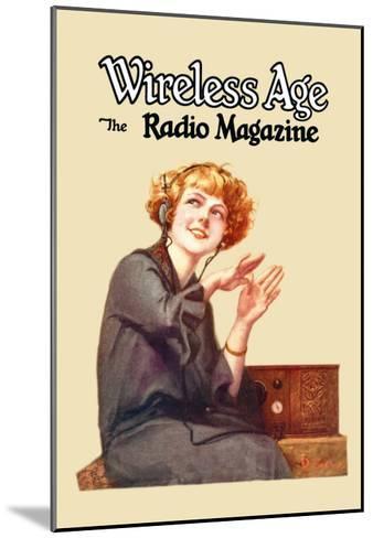 Wireless Age: The Radio Magazine-D^ Gross-Mounted Art Print