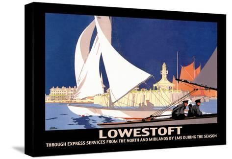 Lowestoft: Through Express Services from the North and Midlands by LMS-Hap Hadley-Stretched Canvas Print
