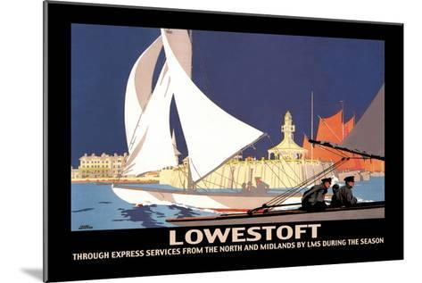 Lowestoft: Through Express Services from the North and Midlands by LMS-Hap Hadley-Mounted Art Print