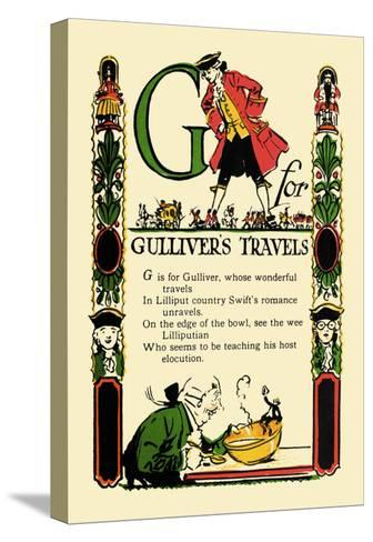 G for Gulliver's Travels-Tony Sarge-Stretched Canvas Print