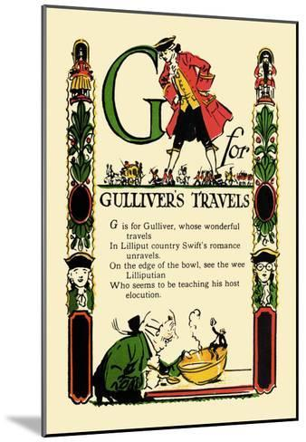 G for Gulliver's Travels-Tony Sarge-Mounted Art Print