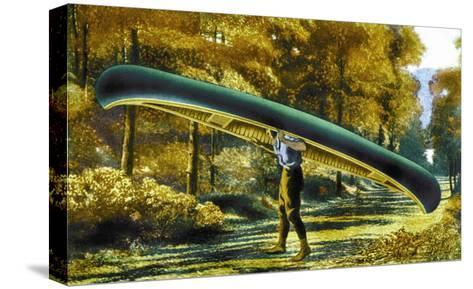 15 Foot 50 Lb. Model Canoe--Stretched Canvas Print