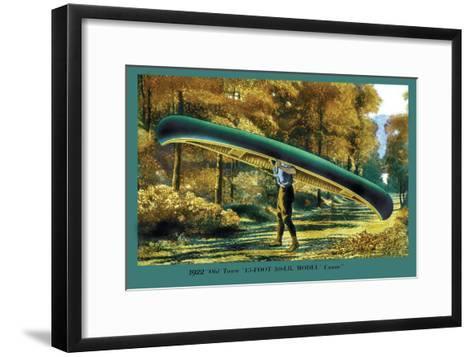15 Foot 50 Lb. Model Canoe--Framed Art Print