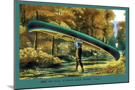 15 Foot 50 Lb. Model Canoe--Mounted Art Print