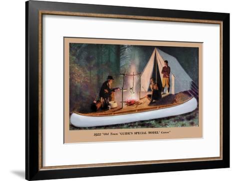 Guide's Special Model' Canoe--Framed Art Print