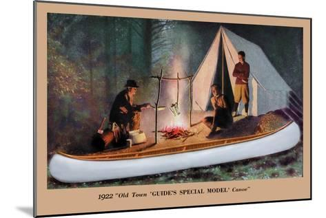 Guide's Special Model' Canoe--Mounted Art Print
