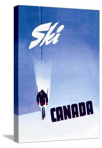 Ski Canada-P^ Ewart-Stretched Canvas Print