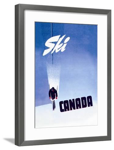 Ski Canada-P^ Ewart-Framed Art Print