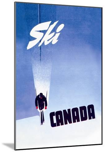 Ski Canada-P^ Ewart-Mounted Art Print