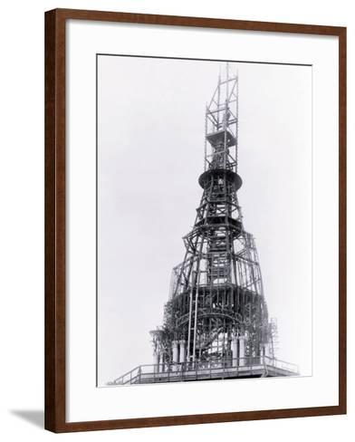Construction of City Hall, Philadelphia, Pennsylvania--Framed Art Print