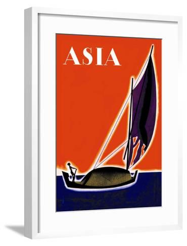 On One of the Seven Seas-Frank Mcintosh-Framed Art Print