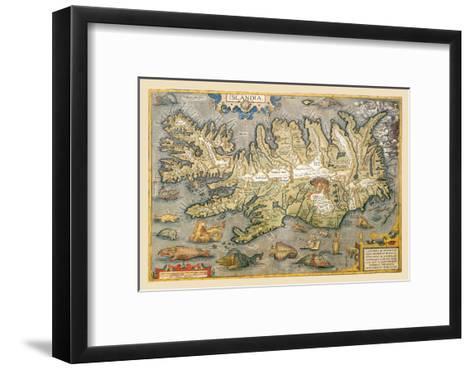 Map of Iceland-Abraham Ortelius-Framed Art Print