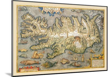 Map of Iceland-Abraham Ortelius-Mounted Art Print