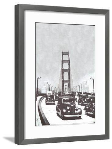The Golden Gate Bridge, San Francisco, California--Framed Art Print
