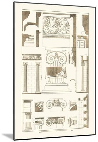 Ionic Capitals-J^ Buhlmann-Mounted Art Print