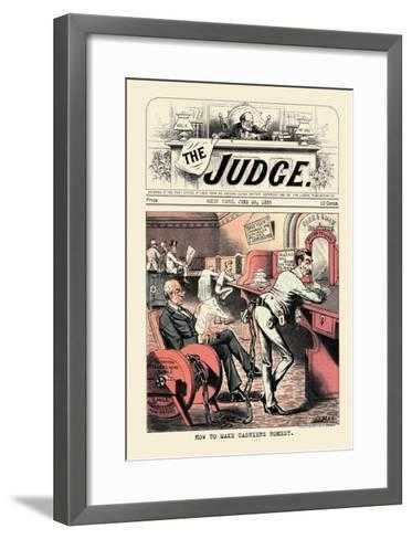 Judge: How to Make Cashiers Honest--Framed Art Print