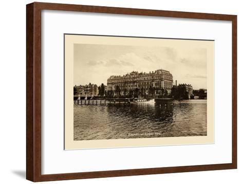 Amstel Met Amstel Hotel, Amsterdam--Framed Art Print