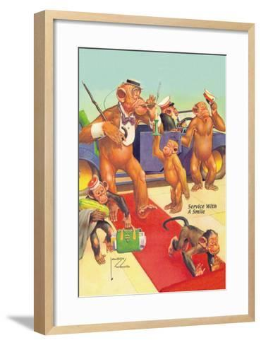 Service with a Smile-Lawson Wood-Framed Art Print