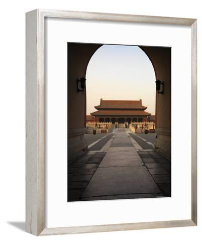 A Doorway to the Hall of Supreme Harmony in the Forbidden City-xPacifica-Framed Art Print