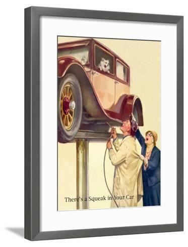 There's a Squeak in Your Car--Framed Art Print