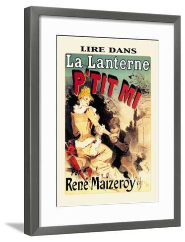 La Lanterne: P'tit Mi-Jules Ch?ret-Framed Art Print
