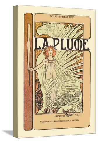 La Plume-Alphonse Mucha-Stretched Canvas Print