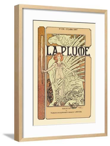 La Plume-Alphonse Mucha-Framed Art Print