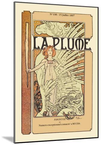 La Plume-Alphonse Mucha-Mounted Art Print