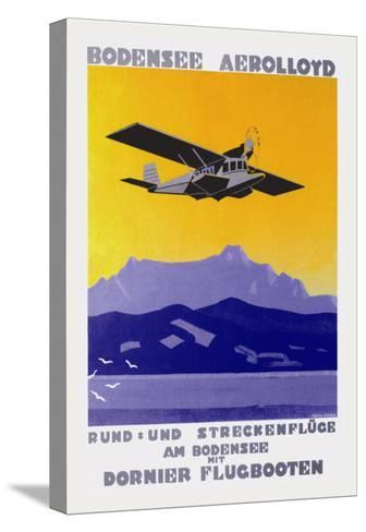 Bodensee Aerolloyd Flying Boat Tours-Marcel Dornier-Stretched Canvas Print