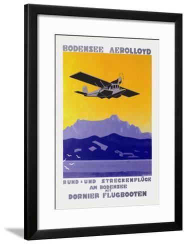 Bodensee Aerolloyd Flying Boat Tours-Marcel Dornier-Framed Art Print