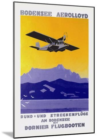 Bodensee Aerolloyd Flying Boat Tours-Marcel Dornier-Mounted Art Print
