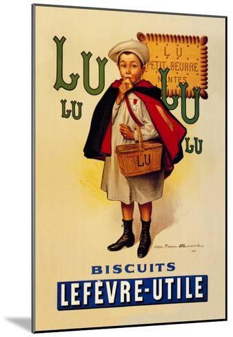 Lu Lu Biscuits-Firmin Etienne Bouisset-Mounted Art Print