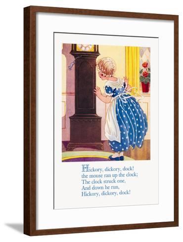 Hickory, Dickory, Dock!--Framed Art Print