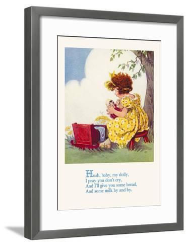 Hush, Baby, My Dolly--Framed Art Print