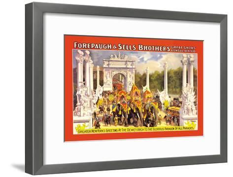 Greater New York's Greeting at the Dewey Arch--Framed Art Print