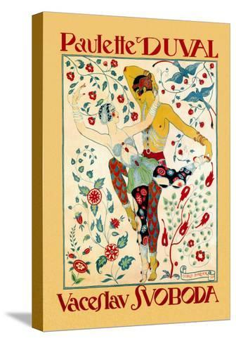 Paulette Duval and Vaceslv Svoboda Dance-Georges Barbier-Stretched Canvas Print