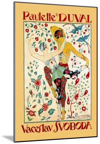 Paulette Duval and Vaceslv Svoboda Dance-Georges Barbier-Mounted Art Print