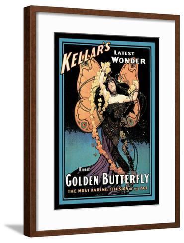 The Golden Butterfly: Kellar's Latest Wonder--Framed Art Print