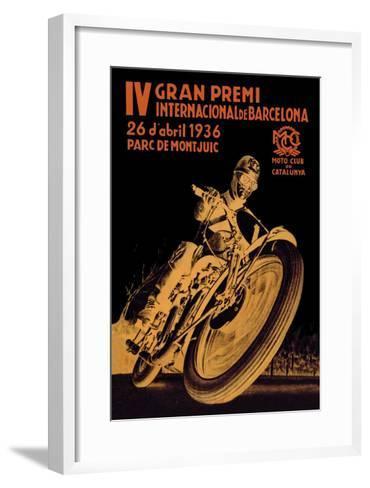 4th International Barcelona Grand Prix--Framed Art Print