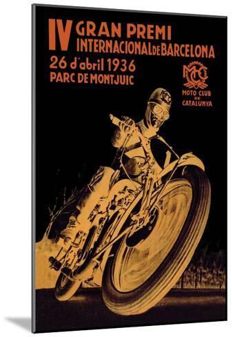 4th International Barcelona Grand Prix--Mounted Art Print