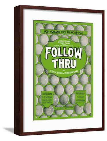 Follow Thru--Framed Art Print