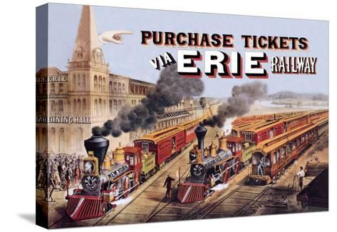 Purchase Tickets Via Erie Railway--Stretched Canvas Print