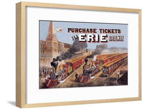 Purchase Tickets Via Erie Railway--Framed Art Print