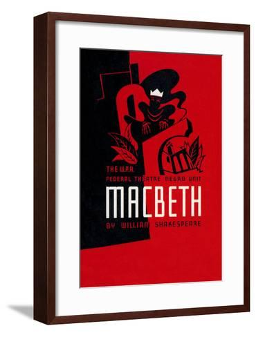 Macbeth: Wpa Federal Theater Negro Unit-Anthony Velonis-Framed Art Print