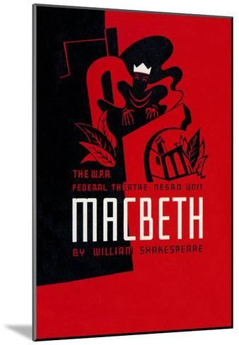 Macbeth: Wpa Federal Theater Negro Unit-Anthony Velonis-Mounted Art Print