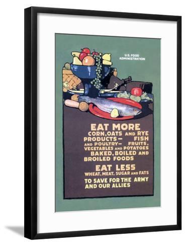 U.S. Food Administration Advisory-L^n^ Britton-Framed Art Print