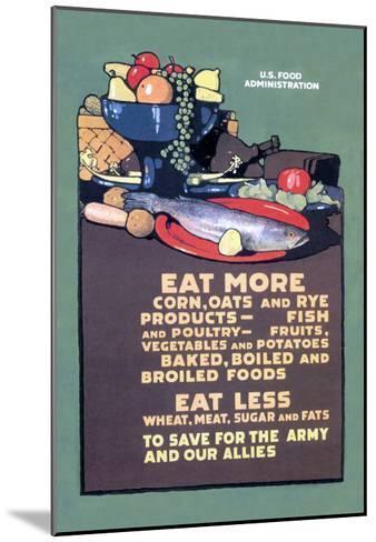 U.S. Food Administration Advisory-L^n^ Britton-Mounted Art Print